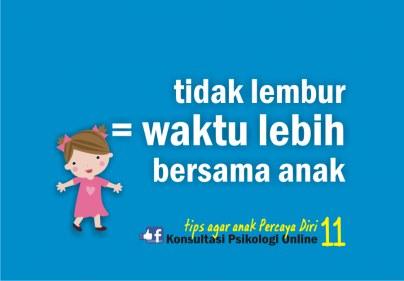 tips agar anak percaya diri 11-waktu lebih utk anak